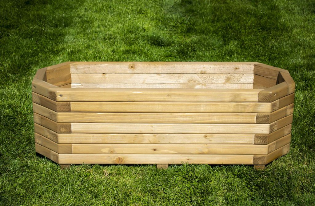 Octagonal Wooden Planter