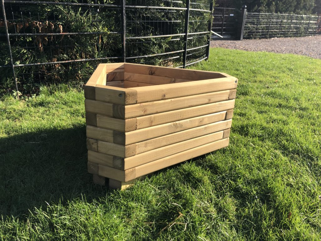 Triangle Wooden Planter